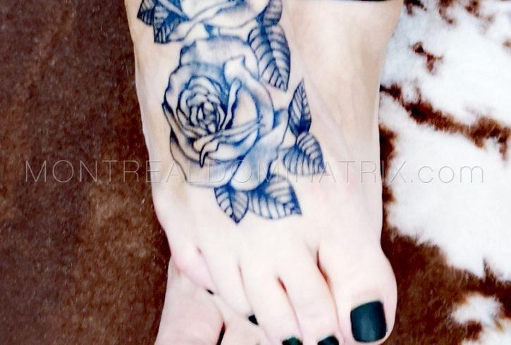 Tattooed feet fetish Selene Pain