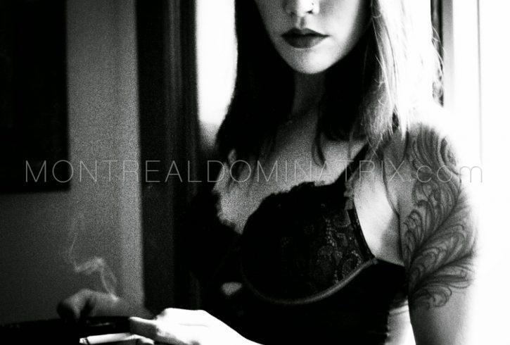 Montreal Mistress Isys smoking