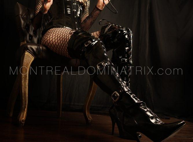 PVC high-boots fetish Mistress Isys