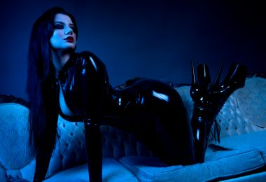 Mistress Irena Fox bodysuit latex