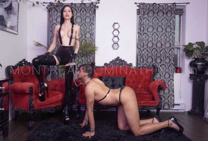 Topless femdom Mistress Malissia